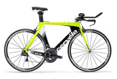 Velo de triathlon cervelo p3 ultegra di2 r8050 2019 jaune fluo noir 54 cm 170 180 cm