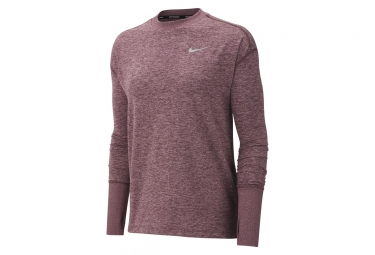 Maillot Manches Longue Nike Element Rose Femme