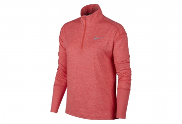 Pull 1/4 zip Nike Element Rose Femme