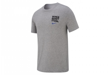 Maillot Manches Courtes Nike Dri-FIT Gris Homme