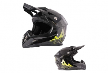 Image of Casque enfant trickx spike kids noir jaune kid s 47 48 cm
