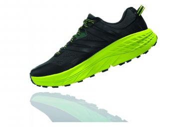 Hoka Speedgoat 3 Trail Shoes Black Green