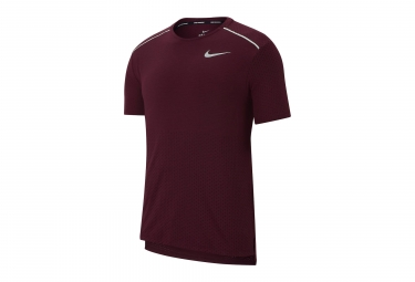 Maillot Manches Courtes Nike Rise 365 Rouge Homme