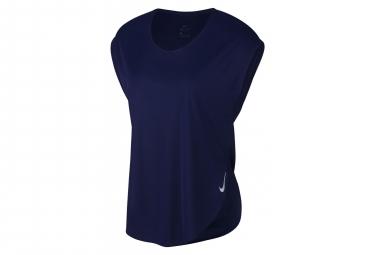 Maillot Manches Courtes Nike City Sleek Bleu Femme