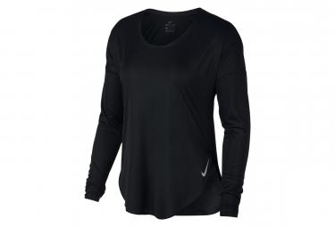 Maillot Manches Longue Nike City Sleek Noir Femme