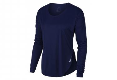 Maillot Manches Longue Nike City Sleek Bleu Femme