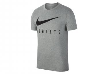 Nike Short Sleeves Jersey Dri-FIT Athlete Grey Men