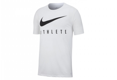 Nike Short Sleeves Jersey Dri-FIT Athlete White Men