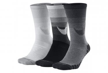 Paires de Chaussettes Nike Dry Cushion Crew (3 Paires) Noir Blanc Gris Unisex