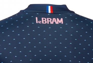 Maillot Manches Courtes Femme LeBram Portillon Bleu Coupe Ajustée