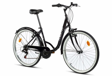 Velo de ville femme moma bikes paseo town 26 shimano 6v noir