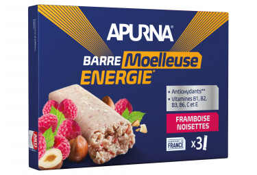 APURNA Energy Bar Raspberry Hazelnut Box 3x40g