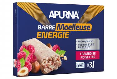 APURNA Energy Bar Raspberry Hazelnut Box 3x40g