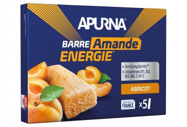 5x25g Caso Apurna albaricoque Energy Bar / Almendra