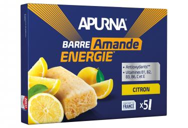 APURNA Barra energética Limón-Almendra Caja 5x25g