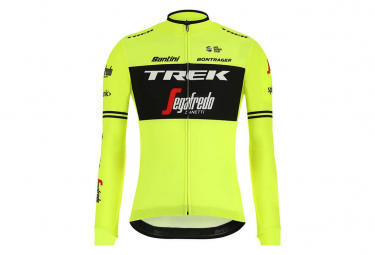 Maillot Manches Longues Thermal Trek Team Trek-Segafredo Jaune Fluo 2019