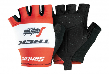 Trek by Santini Short Gloves Team Trek-Segafredo Red 2019