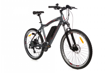 Vtt semi rigide electrique moma bikes e mtb 26 shimano acera 8v gris unique 165 185