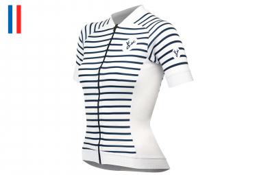 LeBram Ventoux 2Women Short Sleeve Jersey Slim Fit White