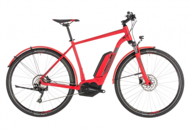 Cube Hybrid Touring Bike Cross Hybrid Pro 500 Allroad Shimano Deore 10s Red 2019