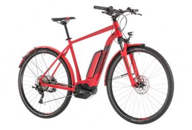 Bicicleta Híbrida Eléctrica Cube Cross Hybrid Pro 500 Allroad  700 Rouge