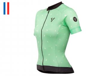 LeBram PeguereWomen Short Sleeve Jersey Slim Fit Green