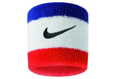 Nike Swoosh Wristbands Blue White Red