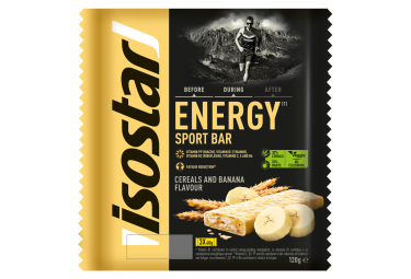 Barres energetiques isostar high energy banane 3x40g