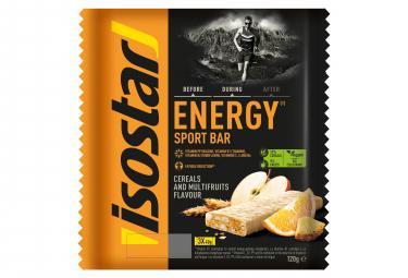 ISOSTAR 3 Barras de energía de alta energía 3x35gr Sabor Frutas Multi