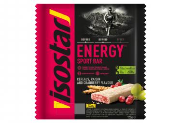 Barres Energétiques Isostar High Energy Cranberry 3x40g