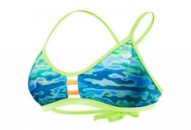 Tyr Women's Serenity Pacific Tieback Top Blue Green