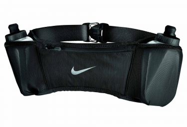 Nike Double Pocket Hydration Belt With 2 Bottles 295 ml Black