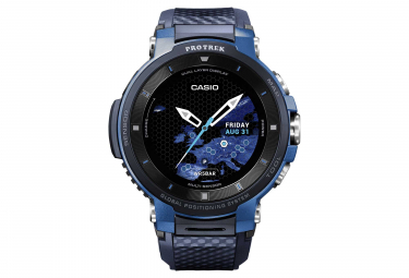 Montre GPS Casio Pro Trek Smart WSD F30 Bleu Noir