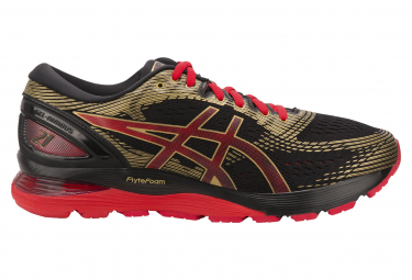 Asics Shoes Run Gel Nimbus 21 MUGEN Black Red