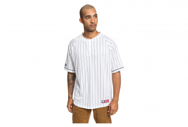 DC Shoes Baseball SS Jersey Skate White / Blue