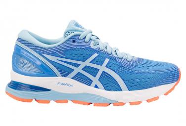 Chaussures de Running Femme Asics Gel Nimbus 21 Bleu / Rose