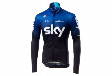 Castelli Thermal Team Sky 2019 Long Sleeves Jersey Black Blue