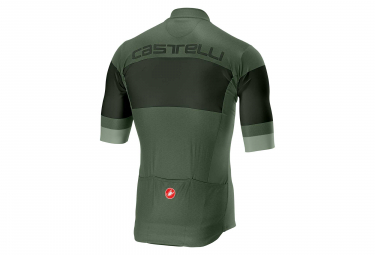 Manga Corta Castelli Ruota Jersey Sauge Verde