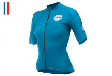 LeBram Allos Women Short Sleeves Jersey Petrole Blue Pro Fit (3 pockets)