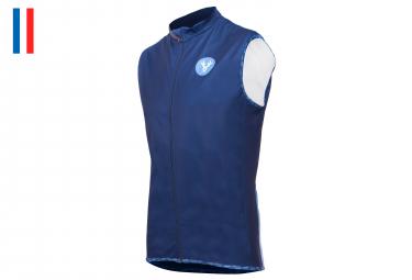 LeBram Eze Sleeveless Windbreaker Jacket Blue