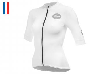 LeBram Allos Women Short Sleeves Jersey White Pro Fit (3 pockets)