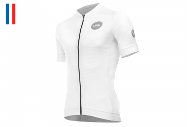 LeBram Allos Short Sleeve Jersey Adjusted Fit White