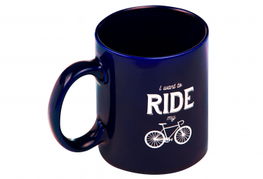 Mug Marcel Pignon I Want To Ride Bleu