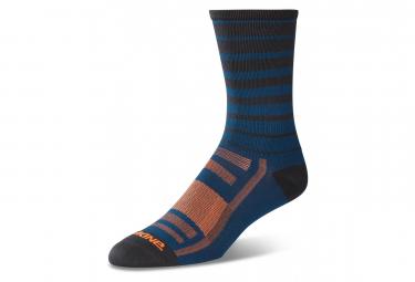 Dakine Singletrack Sock Slate Blue Stripe S M