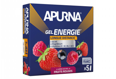 APURNA Gel Energy Larga Distancia Frutas Rojas 5 x 35g