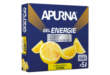 Gel Energetique APURNA -2h effort Citron 5x35g