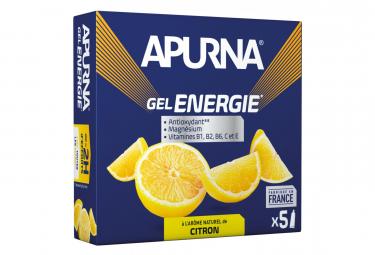 Gel Energetique APURNA -2h effort Citron 5x35g