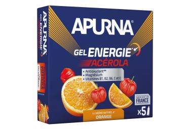 Gel Energetique APURNA Passage Difficile Booster Acerola Orange 5 x 35g
