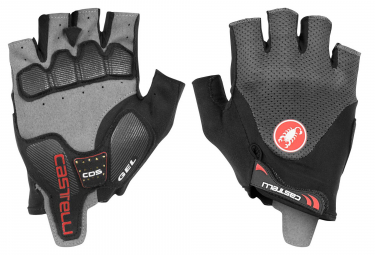 Castelli Arenberg Gel 2 Short Gloves Grey Black