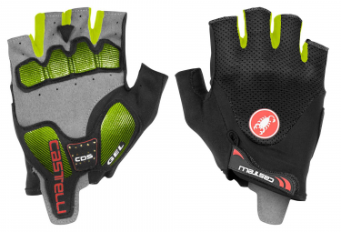 Castelli Arenberg Gel 2 Short Gloves Black Neon Yellow